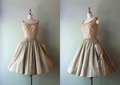 1960s Dress / Vintage 60s Full Skirt Cotton by HolliePoint on Etsy, $98.00