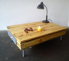 Table hand made from pallet and reclaimed wood.