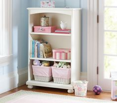 Have Mark make this and paint off-white like crib. (Catalina 3-Shelf Bookcase | Pottery Barn Kids)