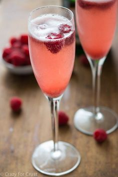 Two-Ingredient Champagne Punch that'll be the hit of your wedding shower, or your celebrating-being-single night with your best single friend.