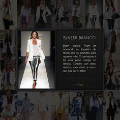 Blazer branco é tudo!