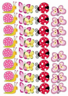 Florzinha Butterfly Party Favors, Butterfly Clip Art, Sewing Crafts, Diy Crafts, Cute Cartoon Wallpapers, Birthday Cake Toppers, Cute Pink, Planer, Scrapbook