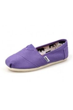 Toms Shoes Purple Canvas Tiny Classics TOMS FOR MY GIRLS
