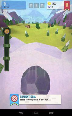 Giant boulder of death: Showing current goal