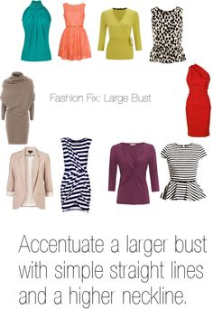 """""""Fashion Fix: Large Bust"""" by fitcolourcombination on Polyvore"""