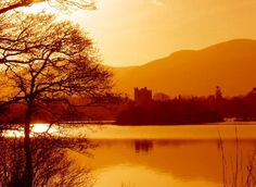 Lake and castle in Killarney National Park