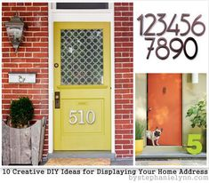 #CurbAppealContest  Creative Ideas for Displaying Your Home Address - DIY House ...