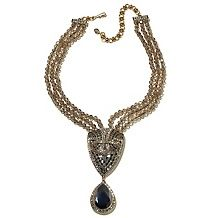 "Heidi Daus ""Deco Indulgence"" 3-Row Beaded Drop Necklace"