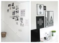 Decorar las paredes con washi tape : via MIBLOG