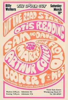 Classic 60s Stax Concert Poster from the U.K.