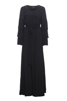 Co Collection Tiered Sleeve Dress in Black