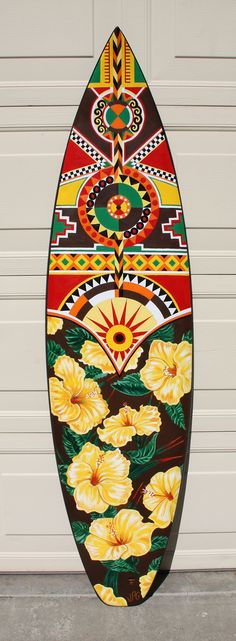 My entry in a Surfboard Art competition and auction. Acrylic on surfboard. Surfboard Painting, Surfboard Art, Skateboard Art, Surfing Lifestyle, Best Surfboards, Tiki Tattoo, Hawaii Surf, Art Competitions, Surf Art