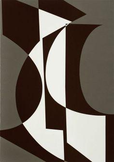 Albrecht Schnider, Untitled, Acrylic on canvas. Modern Art, Contemporary Art, Geometry Art, Illustration Art, Illustrations, Mid Century Art, Art Abstrait, Op Art, Geometric Shapes