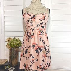 """Adorable NWT Guess Sundress Just in time for Spring!  Adorable Peach/Coral dress by Guess with front silver front zipper detail. Never worn in perfect new condition. Bust 15.5 Length 24"""" Guess Dresses Mini"""