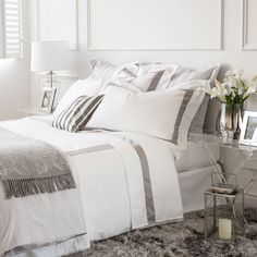 SATIN BED LINEN WITH CONTRASTING RIBBON - Bed Linen - Bedroom | Zara Home Sweden