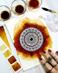 Likes, 237 Comments - m_himani Mandala Art Therapy, Mandala Art Lesson, Mandala Painting, Mandala Drawing, Girly Drawings, Pencil Art Drawings, Cool Art Drawings, Mandala Doodle, Mandala Book