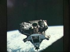 AS09-21-3236 Lunar Module ascent stage photographed from Command/Service Module