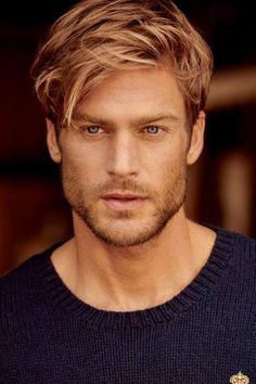 Inspiration for the Tyler character in the Masters of Protection Series. Wavy Hair Men, Blonde Wavy Hair, Blonde Guys, Brown To Blonde, Cool Hairstyles For Men, Haircuts For Men, Mens Hairstyles Blonde, Beautiful Men Faces, Gorgeous Men