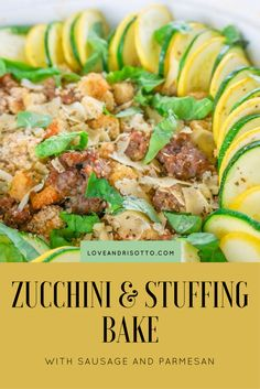 With sausage, zucchi