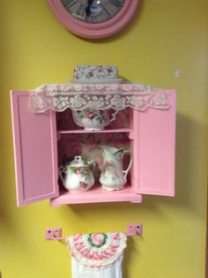 Don't disregard toys!  I made a cabinet out of an old doll closet <3