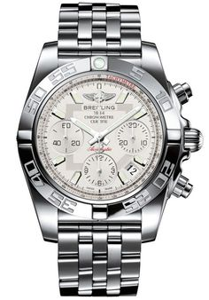 @breitling Watch Chronomat 41 Bracelet #add-content #bezel-unidirectional #bracelet-strap-steel #brand-breitling #case-depth-15-4mm #case-material-steel #case-width-41mm #chronograph-yes #cosc-yes #date-yes #delivery-timescale-1-2-weeks #dial-colour-silver #gender-mens #luxury #movement-automatic #official-stockist-for-breitling-watches #packaging-breitling-watch-packaging #style-sports #subcat-chronomat #supplier-model-no-ab014012-g711-378a #warranty-breitling-official-2-year-guarantee…