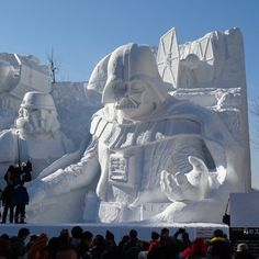 Star Wars Sculpture For Snow Festival in Sapporo, Japan