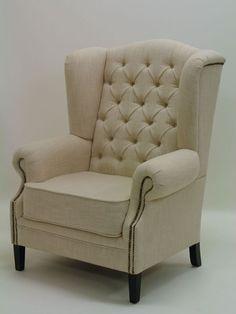 Ohrensessel Sessel mit Textilbezug Hoher Sitzkomfort Sitzmöbel Sofas und Sessel 879