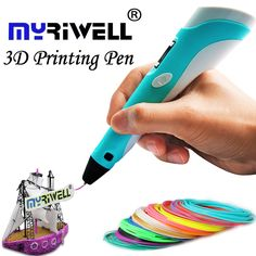 3d pen Myriwell 2nd Generation LED LCD Display DIY 3D Printing Pen  Arts 3d pens For Kids Drawing Tools high quality #men, #hats, #watches, #belts, #fashion, #style