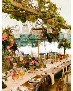 A gorgeous ladder installation at this beautiful spring wedding