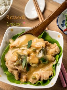 In Brunei, buttermilk chicken is a popular dish. It's delicious; crispy chicken under a sauce that's sweet yet savoury, spicy yet creamy. Give it a try!