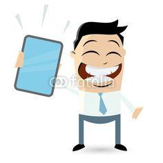 Funny business cartoon man by Dietmar Höpfl shockfactor.de