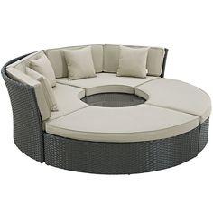 Modway Furniture Modern Sojourn Outdoor Patio Daybed in Sunbrella® #design #homedesign #modern #modernfurniture #design4u #interiordesign #interiordesigner #furniture #furnituredesign #minimalism #minimal #minimalfurniture