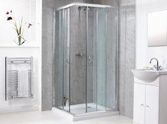 Corner Shower Doors Glass and Its Variation: Astonishing Contemporary Bathroom Design Ideas With Square Corner Glass Shower Doors Frameless Tube Also Vanity Sink Unit And Fashion Mirror ~ boholmain.com Bathroom Design Inspiration