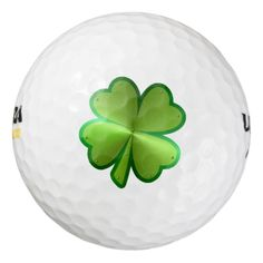 Metallic Four-leaf Clover Pack Of Golf Balls