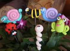Polymer+Clay+Pot+Garden+Stake+Full+by+ClayCutiesbySabrina+on+Etsy,+$25.00