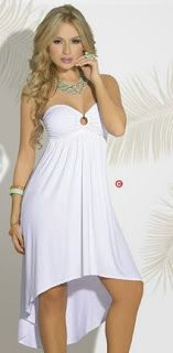 Vestido blanco cola de pato Girl Outfits, Cute Outfits, Fashion Outfits, Vestidos Sport, All White, Beautiful Dresses, White Dress, Jumpsuit, Hoodies