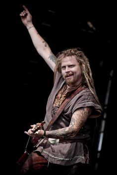 Jonne Järvelä on stage at Bloodstock Open Air Metal Festival at Catton Hall on August 15, 2010 in Derby, England.