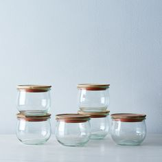Weck Tulip Jars (Set of 6 - large lid)