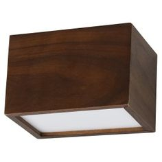 LEDlux Nord Cube LED Up/Down Dimmable Wall Bracket in Walnut