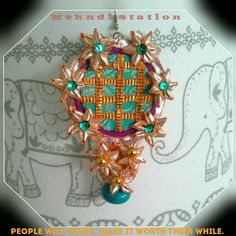 Handmade Traditional Gota Earrings, Traditional Indian Jhumka Earrings, Jamawar Fabric Mehndi Earrings, Indian Wedding Accessory