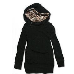 Leopard Lined Hoodie