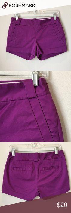 J. Crew purple shorts! 💜 Cutest J.Crew shorts! Side pockets, side zipper. J. Crew Shorts
