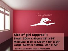 gymnastics room decor | ... decorations, car signs and more... | Product Decal, Decor, Wall