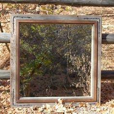Hand Crafted Western Mirror - Barnwood With Alder Overlay And ...