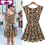 Women-Casual-Leopard-Print-Dress-Microfiber-Summer-Dresses-12054