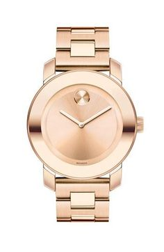 A slick, rose gold watch by Movado. Never was into Movado, but THISSSSSSS!!!