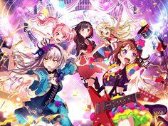 The BanG Dream! Cute Anime Girl Wallpaper, Tokyo, Rhythm Games, Anime Best Friends, Girl Bands, Cute Girls, Idol, Gallery, Music