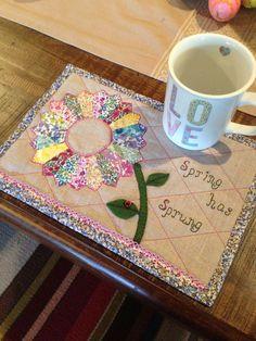 Liberty Spring has Sprung ladybug mug rug