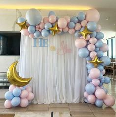 Baby gender reveal party for a beautiful mommy to be. Baby gender reveal party for a beautiful mommy to be. More from my site Pink and Blue Baby Shower, Gender Reveal Baby Shower Printables, Baby Shower Ideas Guess Who: Mommy or Daddy Game Gender Reveal Party Games, Gender Reveal Themes, Gender Reveal Balloons, Gender Reveal Party Decorations, Gender Party, Reveal Parties, Baby Reveal Party Ideas, Gender Reveal Outfit, Gender Reveal Gifts