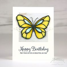 Beautiful Day, Stampin Up, Petal Palette, Wood textures Butterfly Cards Handmade, Bee Cards, Beautiful Handmade Cards, Global Design, Pretty Cards, Card Sketches, Homemade Cards, Stampin Up Cards, Birthday Cards
